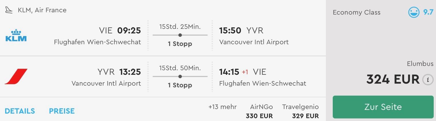 Kanada: Vancouver s odletom z Viedne už od úžasných 324€