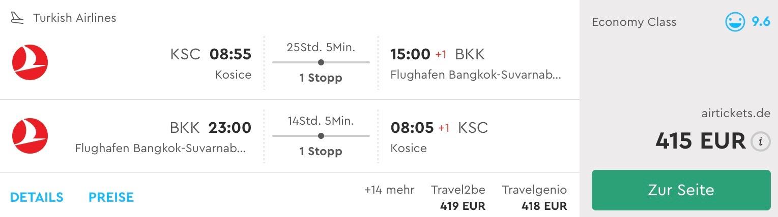 Thajsko: Bangkok s odletom z Košíc už od 415€ s Turkish Airlines