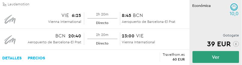 Viedeň – Barcelona už za skvelých 39€