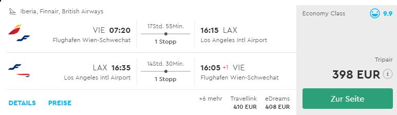 Kalifornia: Los Angeles s odletom z Viedne už od výborných 398€