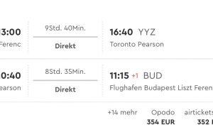 Z Budapešti priamo do kanadského Toronta už za 349€!