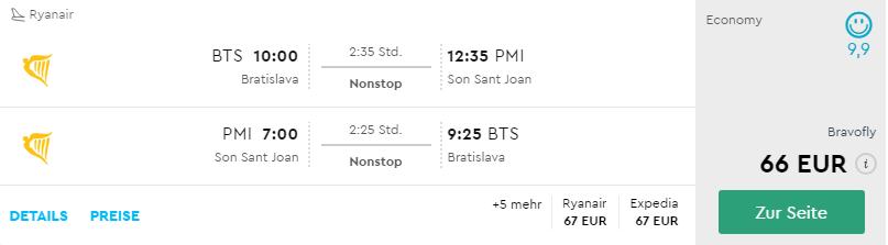 Mallorca z Bratislavy uprostred leta už od 66€