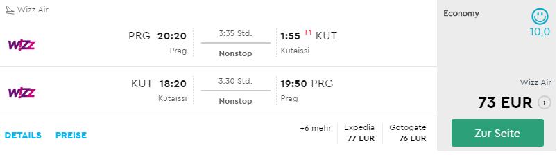 Gruzínsko: Kutaisi s odletom z Prahy už od 73€ (termíny v júni)
