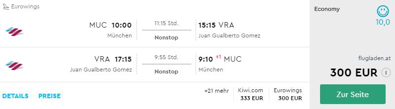 Kuba: Last Minute letenky (priame lety) z Mníchova do Varadera už od skvelých 300€