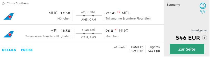 Z nemeckého Mníchova do austrálskeho Melbourne už za 546€