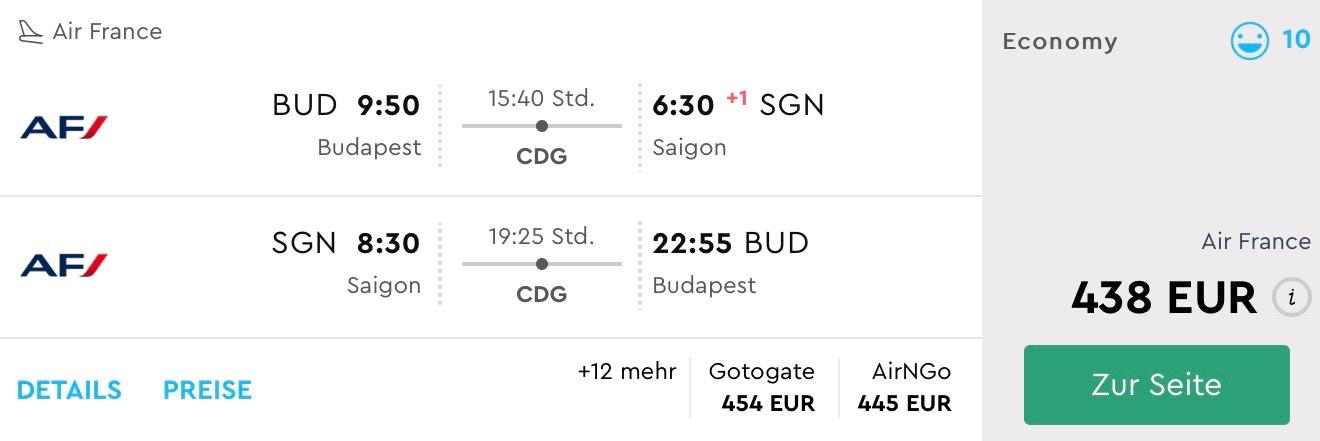 Z Budapešti do Vietnamu už od výborných 438€