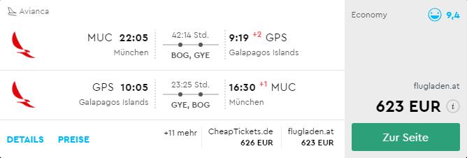 Nádherné Galapágy s odletom z Mníchova od 623€