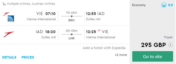 Washington s odletom z Viedne už od výborných 333€ (aj na vianoce a Silvestra)