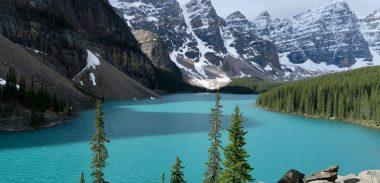 Západná Kanada: Moraine Lake, Lake Louise a skúška spreju proti medveďom