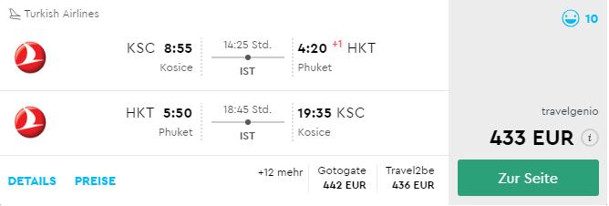 Thajský Phuket s odletom z Košíc v TOP sezóne už od 433€
