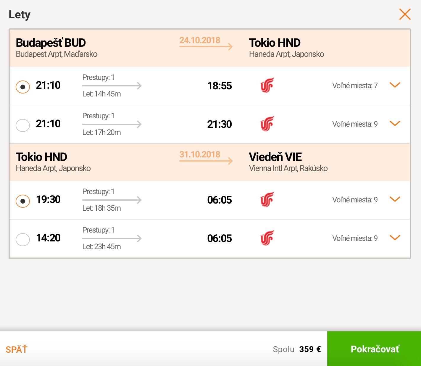 Japonské Tokio s odletom z Budapešti a príletom do Viedne už za 359€
