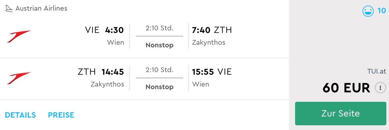 Last Minute letenky na Zakynthos z Viedne za skvelých 60€