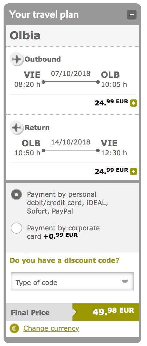 Z Viedne na Sardíniu v septembri a októbri už od 50€