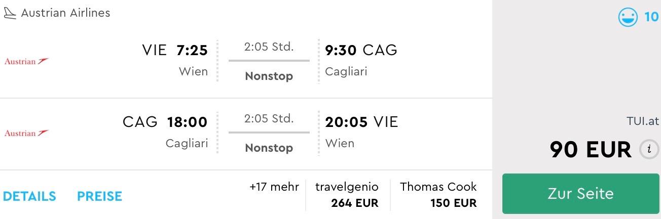 Last Minute letenka na Sardíniu z Viedne za úžasných 90€
