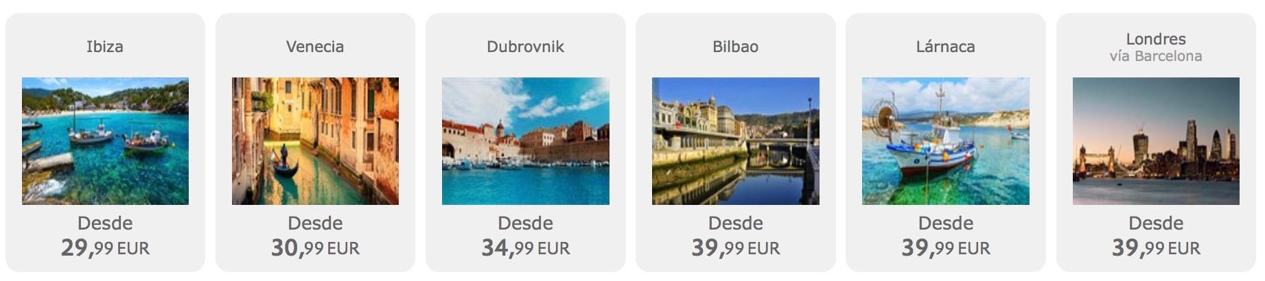 Výpredaj Vueling: 1.000.000 leteniek už od 17,99€ jednosmerne