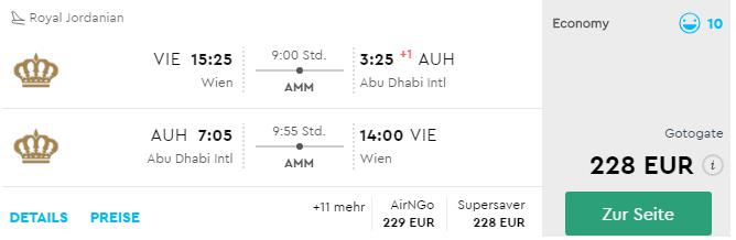 SAE: Z Viedne do Abu Dhabi už od výborných 228€
