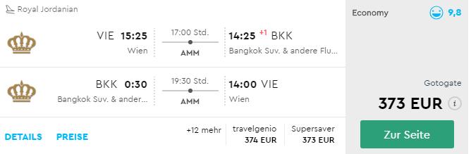 Thajsko: Bangkok s odletom z Viedne v TOP sezóne už od skvelých 373€