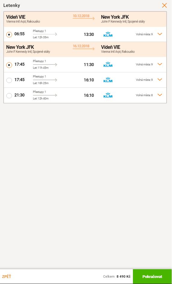 Z Viedne do New Yorku za skvelých 327€ (množstvo termínov)