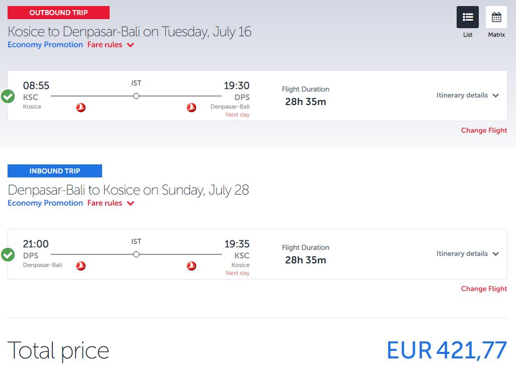 BALI na budúci rok v lete so špičkovými Turkish Airlines od úžasných 419€ (odlet z Košíc, Budapešti aj Prahy)