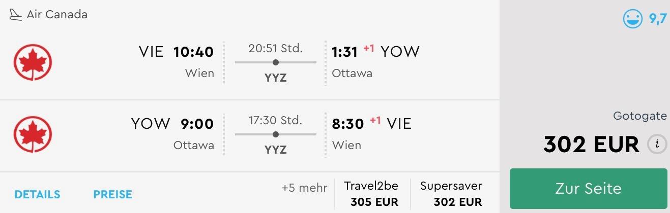 Ottawa, hlavné mesto Kanady s odletom z Viedne už od skvelých 302€