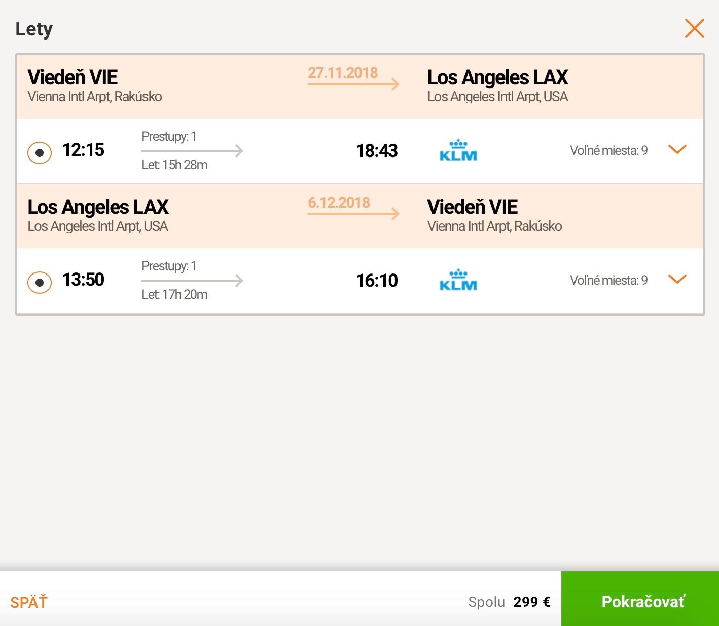 Do LOS ANGELES z Viedne za parádnych 299€