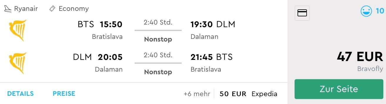 Na neskoršiu letnú dovolenku do Turecka (Dalaman) z Bratislavy už za parádnych 47€