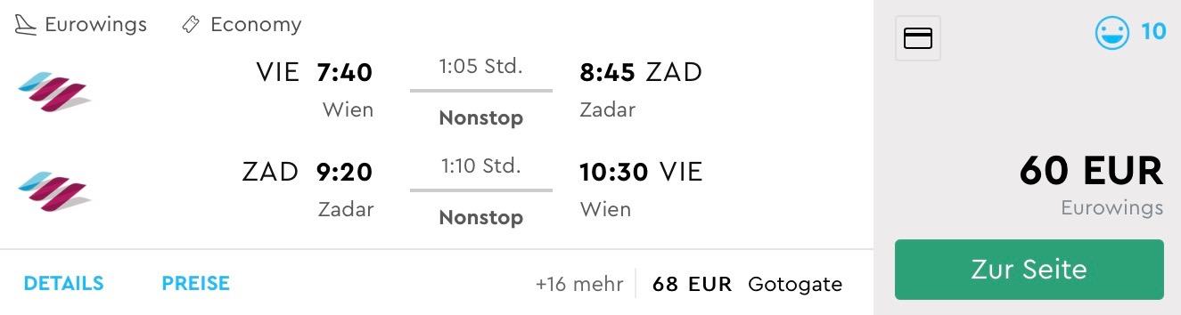 K slovenskému moru do Chorvátska (Zadar) z Viedne za výborných 60€