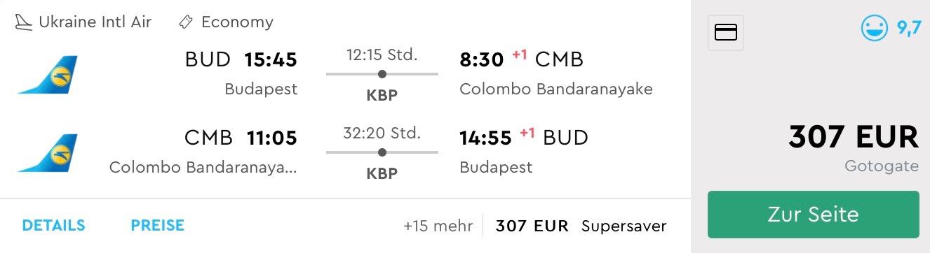 SUPER PONUKA: Srí Lanka (Colombo) s odletom z Budapešti už od skvelých 307€