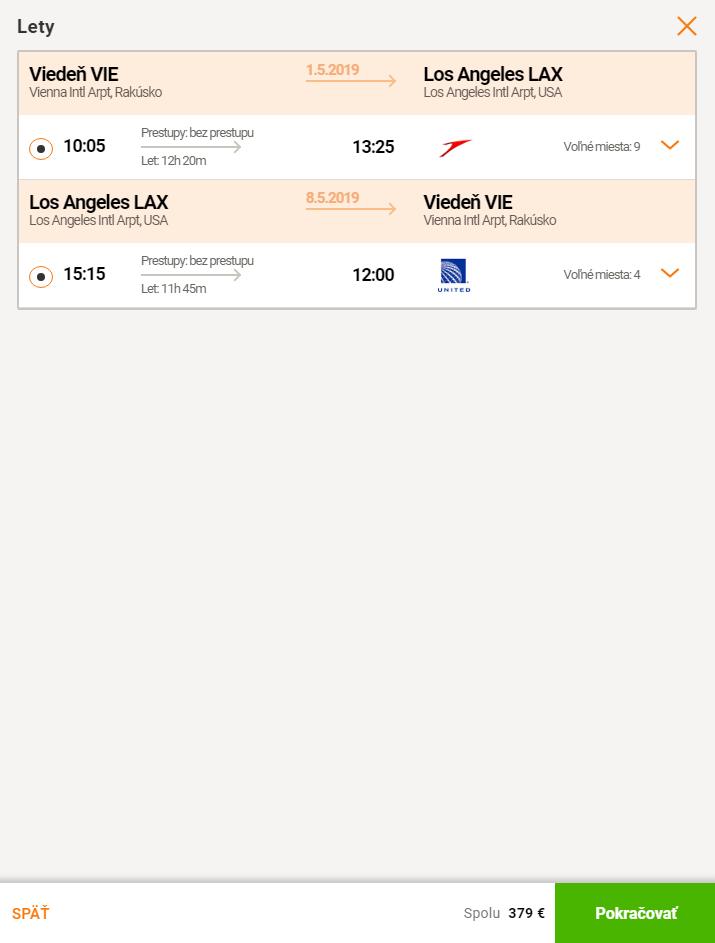 Priamy let do Los Angeles z Viedne za skvelých 379€ (termíny na vianoce aj Silvestra)