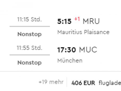 Priamy let na MAURÍCIUS z Mníchova za výborných 400€ (termín aj na vianoce)