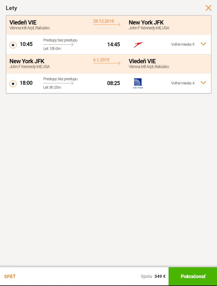 Priamy let z Viedne do New Yorku za skvelých 349€ (termíny aj na vianoce a Silvestra)