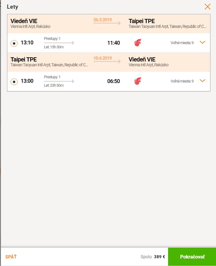 Taiwan (Taipei) s odletom z Viedne za skvelých 389€