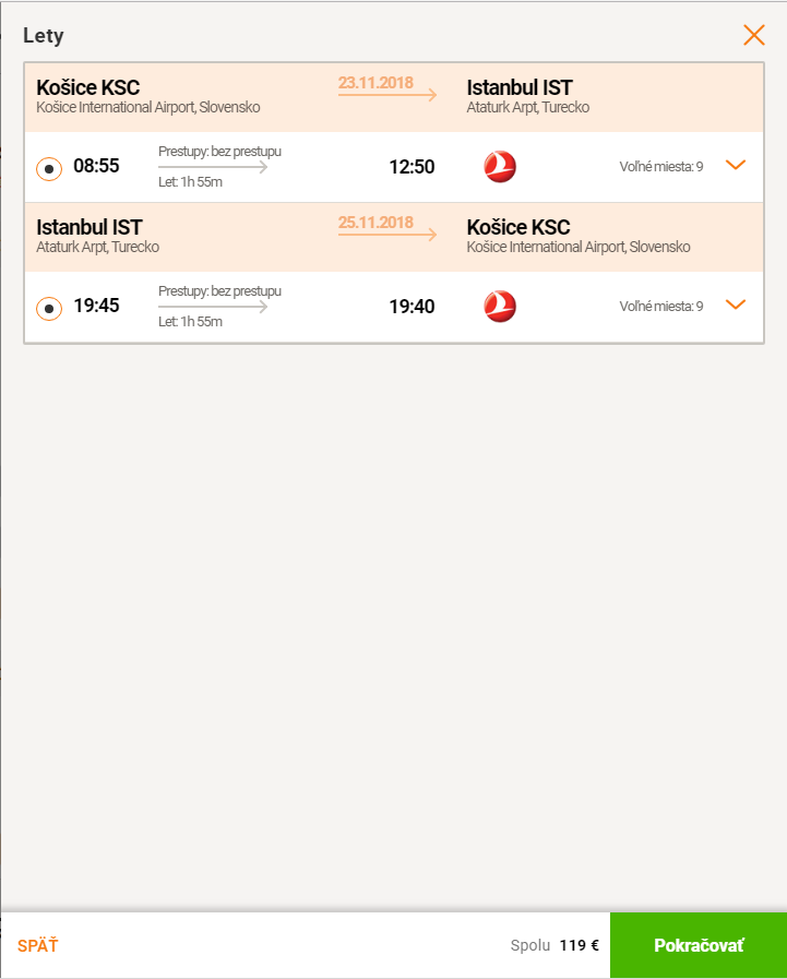 Istanbul z Košíc s Turkish Airlines za 119€