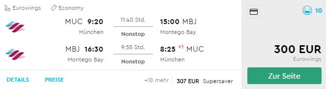 JAMAJKA v TOP sezóne: priame lety z Mníchova do Montego Bay od fantastických 300€