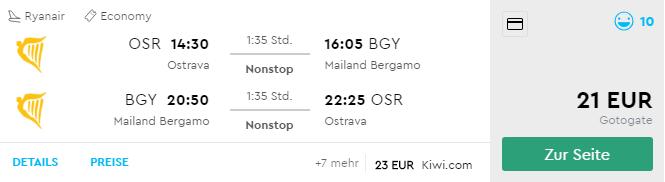 Jesenný predĺžený víkend v Miláne s odletom z Ostravy za parádnych 21€