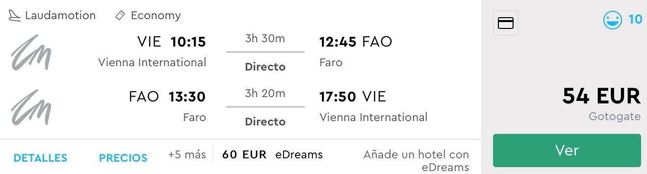 Portugalsko: Faro s odletom z Viedne už od 54€ (aj predĺžené víkendy)