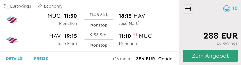SUPER PONUKA: Priame lety do Havany z Mníchova za fantastických 288€ (termín aj na vianoce!)