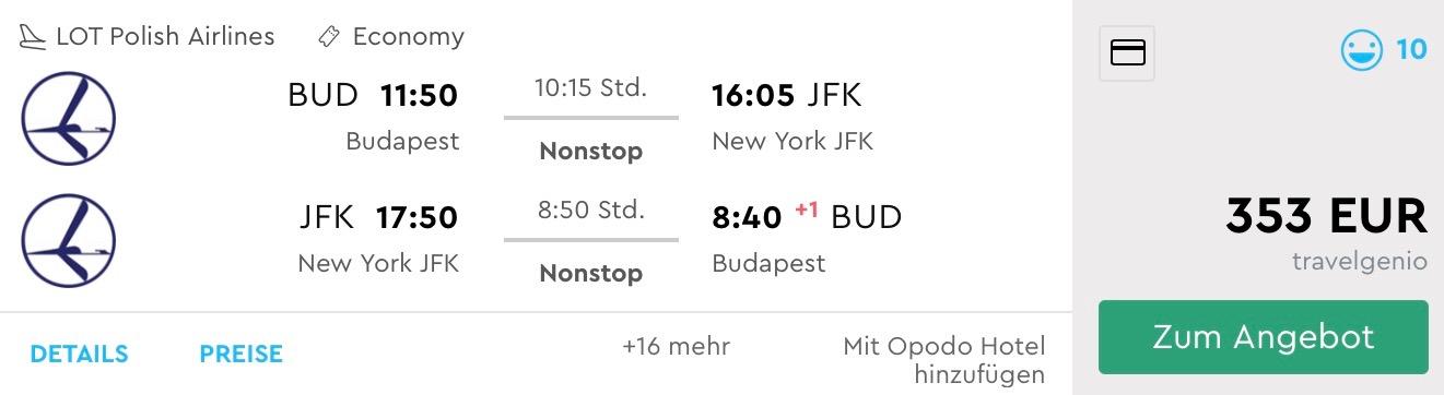 NEW YORK BEZ PRESTUPU z Budapešti už od výborných 353€