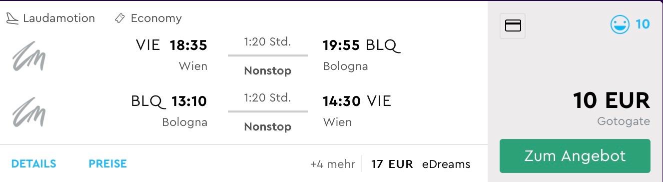 Na veceru do Bologne a na druhý deň naspäť za parádnych 10€ (odlet z Viedne)