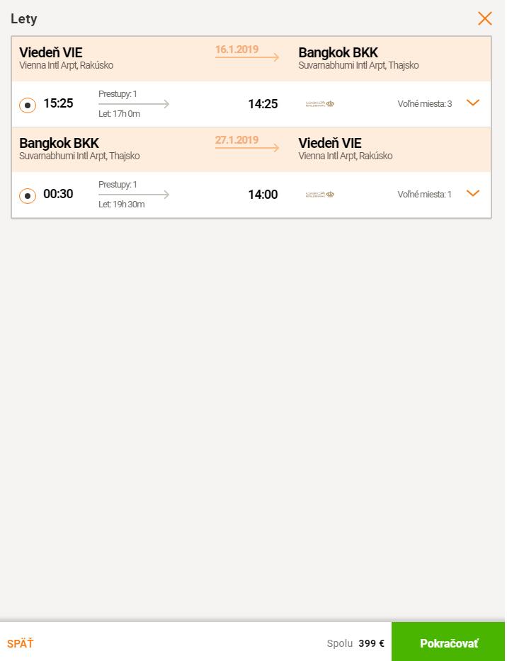 Thajský Bangkok v TOP sezóne za 399€ (odlet z Viedne)