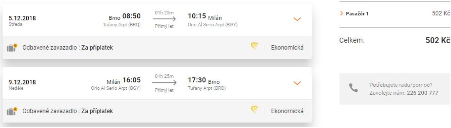 MILÁNO: na predĺžený víkend alebo na Ligu Majstrov s odletom z Brna už od skvelých 19€