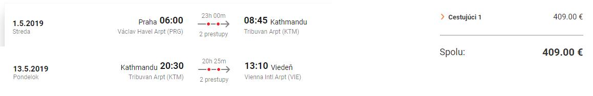 NEPÁL: Káthmandu s odletom z Prahy a príletom do Viedne za výborných 409€