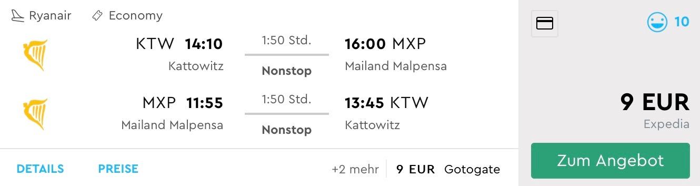 Na predĺžený víkend do Milána z Katowíc od neuveriteľných 9€