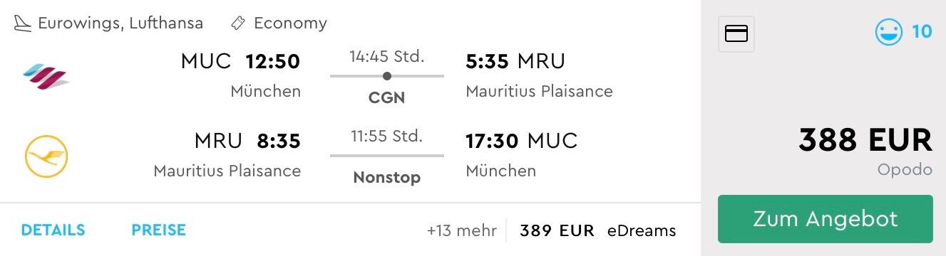 LAST MINUTE MAURÍCIUS: letenka z Mníchova a 14 nocí v apartmáne s veľmi dobrým hodnotením, za skvelých 613€ na osobu (ak cestujú 2 osoby)