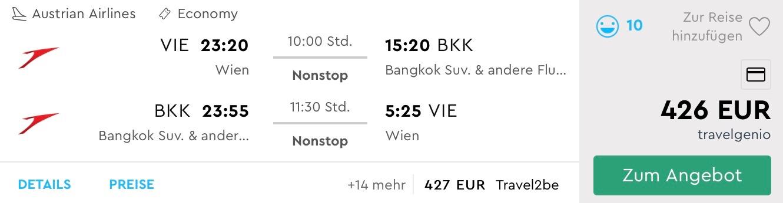BANGKOK: priame lety z Viedne už od výborných 426€ (batožina v cene!)