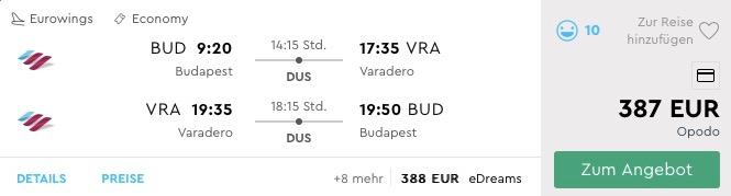 VIANOCE V KARIBIKU: Varadero s odletom z Budapešti už za parádnych 387€ (aj iné ako vianočné termíny)