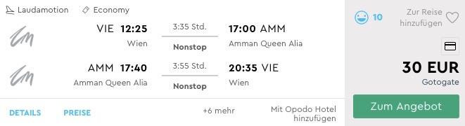 JORDÁNSKO: Ammán s odletom z Viedne v decembrových termínoch (aj cez vianoce) za nekutočných 30€
