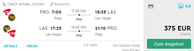 LAS VEGAS s odletom z Prahy už od výborných 375€ (batožina v cene!)