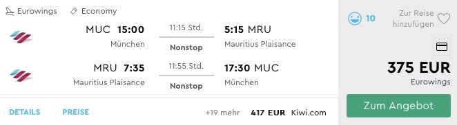 MAURÍCIUS: priame lety z Mníchova už od parádnych 375€(aj počas vianoc!)