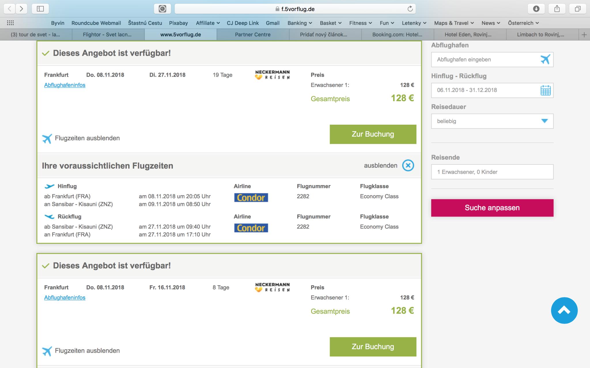 MEGA LAST MINUTE LETENKA NA ZANZIBAR z Frankfurtu za neskutočných 128€